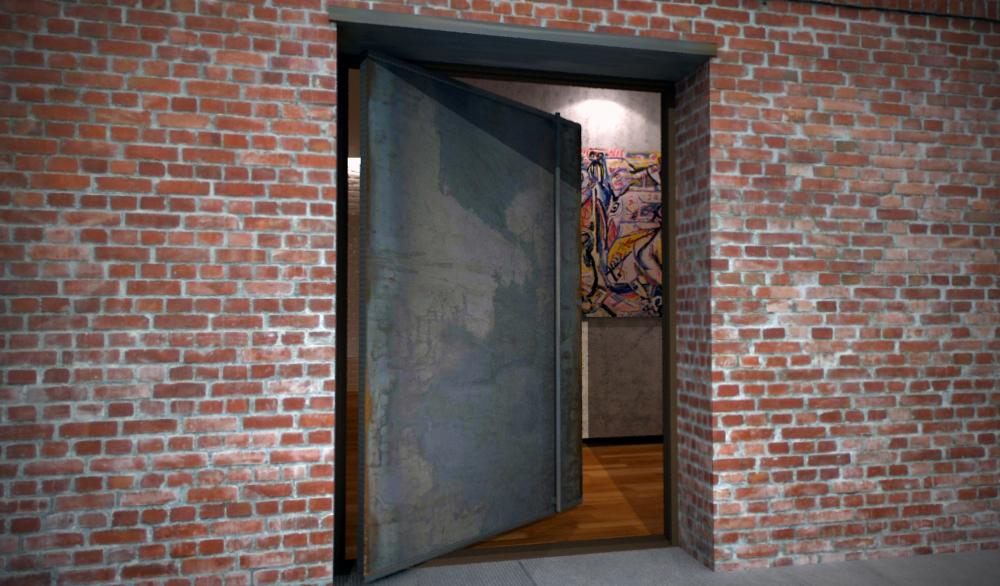 Industrial Steel Security Doors : Industrial steel doors exterior flush commercial hollow