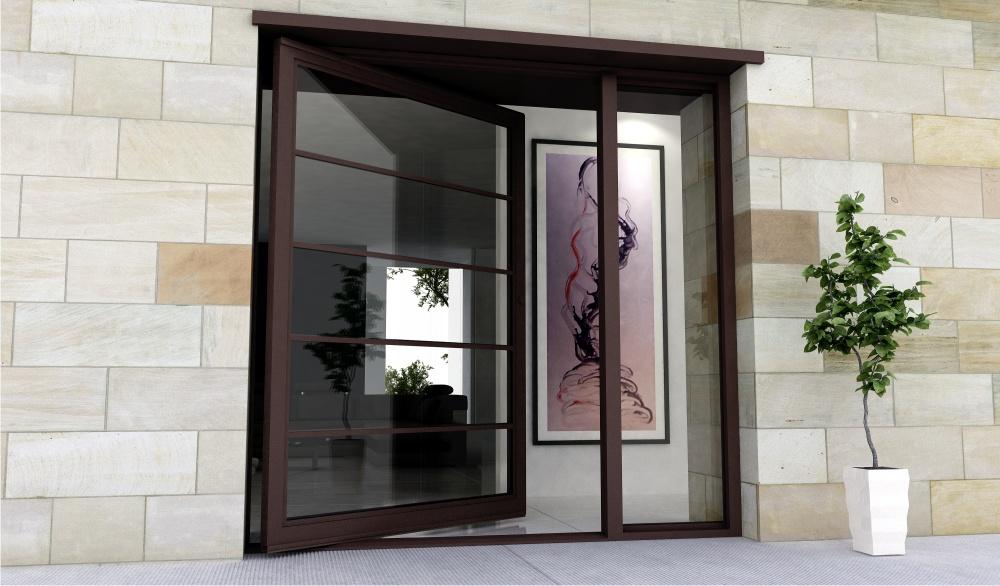 Steel Glass Doors Glass Pivot Door With Steel