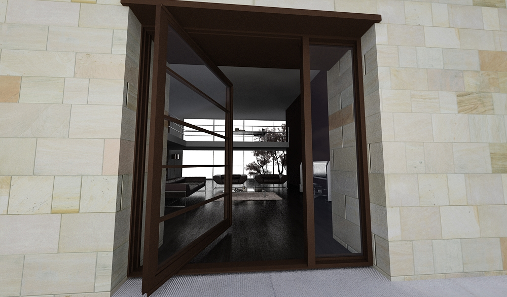 Modern Steel Pivot Glass Doors by Door 1000 x 586 · 389 kB · jpeg
