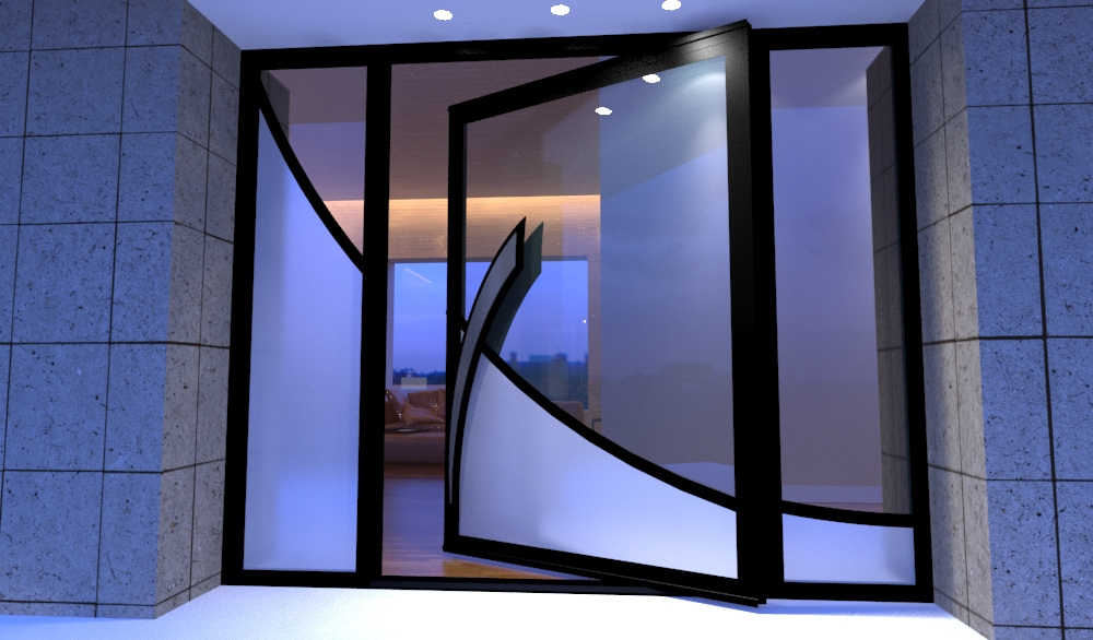 modern glass front door the wave pivot door design