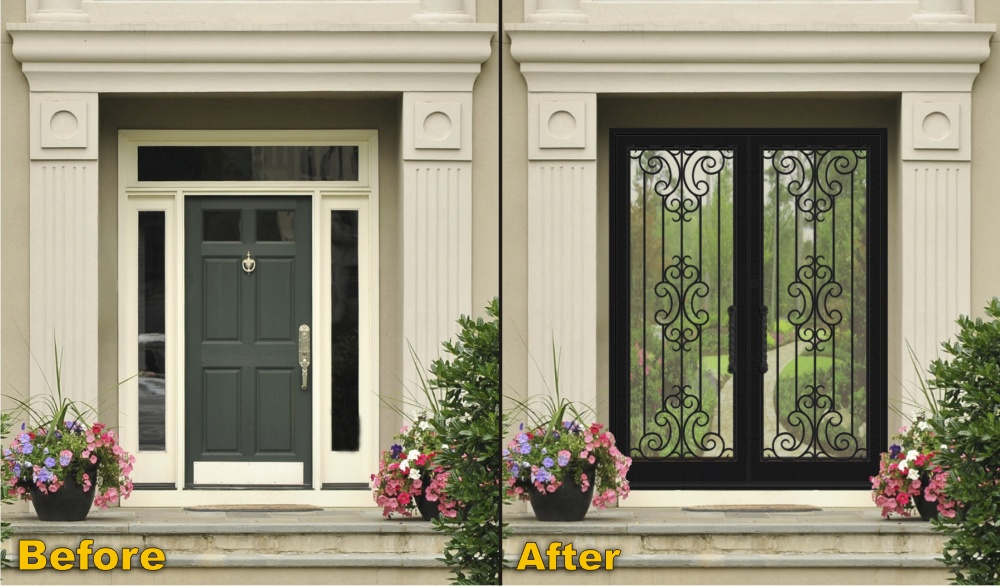 Glass door glass screen door for Modern screen door