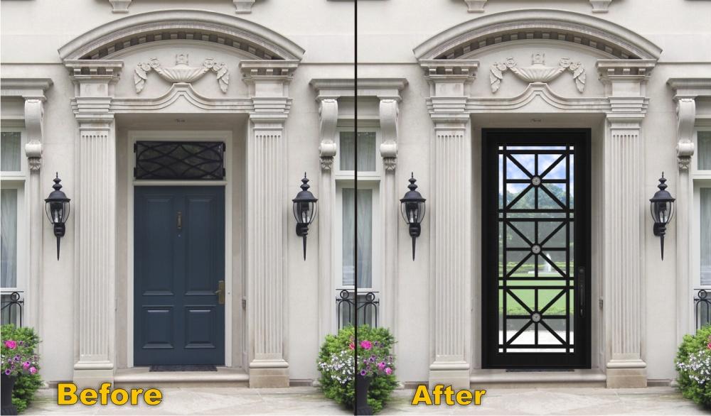 Steel doorse modern steel doors for Modern screen door