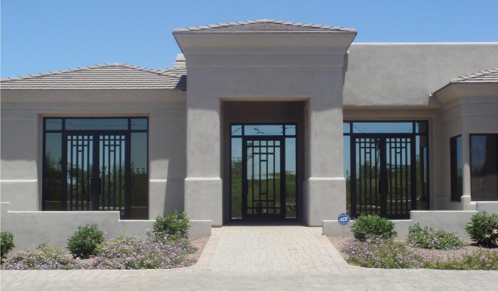 Modern steel doors images for Modern screen door