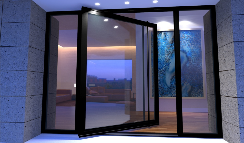 Modern steel doors custom steel glass doors for luxury Modern glass exterior doors