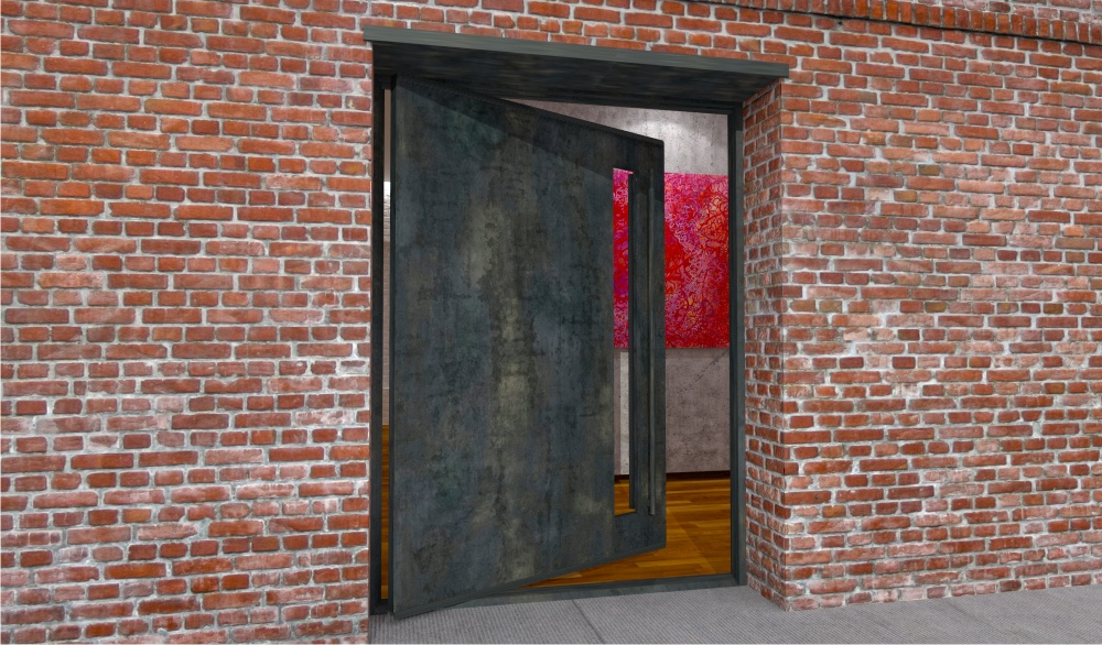 Modern steel doors custom steel glass doors for luxury for Custom made exterior steel doors
