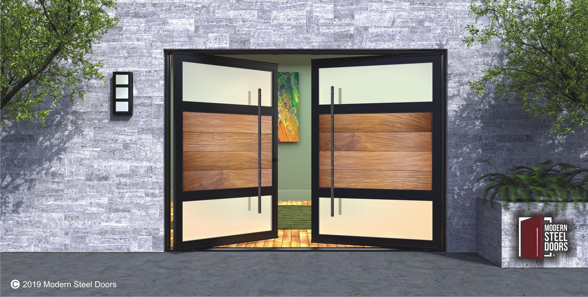 TEAK-HORIZON-DOUBLE-DOOR-WITH-ROUND-FACETED-PULLS