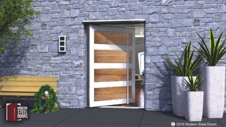 TEAK-PARAGON-SINGLE-DOOR-WITH-MATCHING-ROUND-DOOR-LENGTH-PULLS