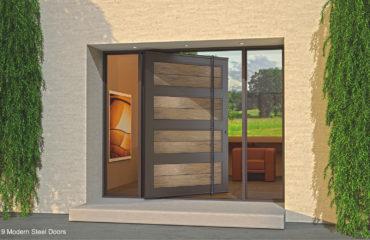 WASHED-TEAK-PARAGON-SINGLE-DOOR-WITH-FACETED-DOOR-LENGTH-PULLS-&-SIDELIGHTS