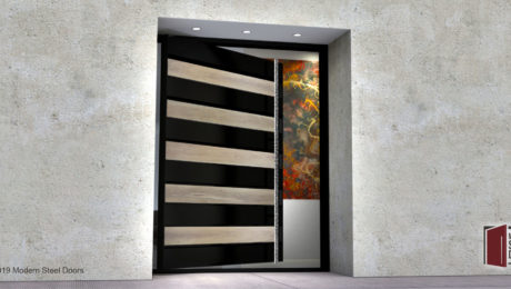 WHITE-OAK-EDGE-SINGLE-DOOR-WITH-POLISHED-FACETED-DOOR-LENGTH-PULLS