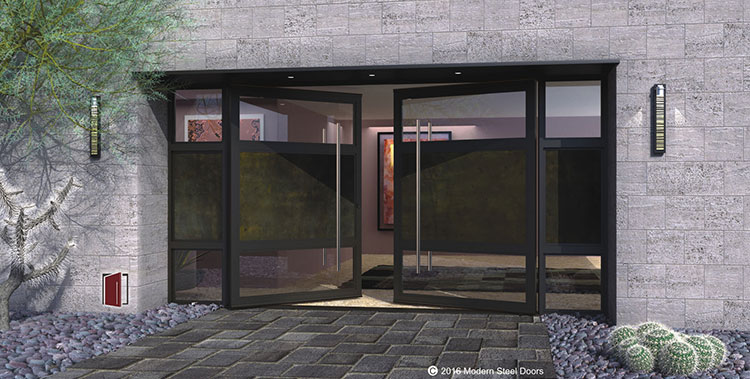 custom made glass doors glass and metal doors metal and glass doors double - Modern Exterior Metal Doors