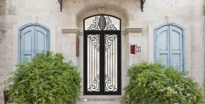 Paris Double Door & Transitional Style Front Doors Arched Transom With Hand Sculpted Antler Pulls & Transom Centerpiece, Pivot Hinges, Pivoting Doors.