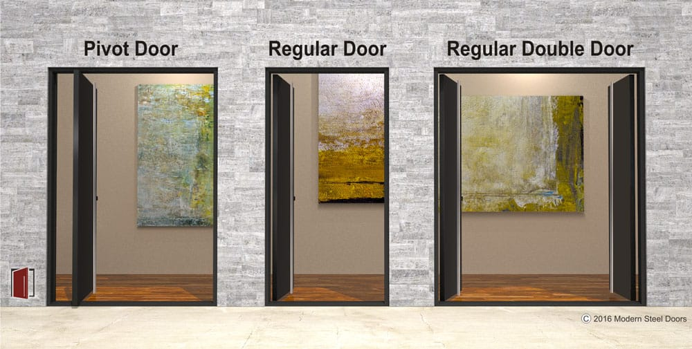 Pivot doors, pivot front doors, pivot entry doors, handcrafted and developed by a pivot door company, Modern Steel Doors.