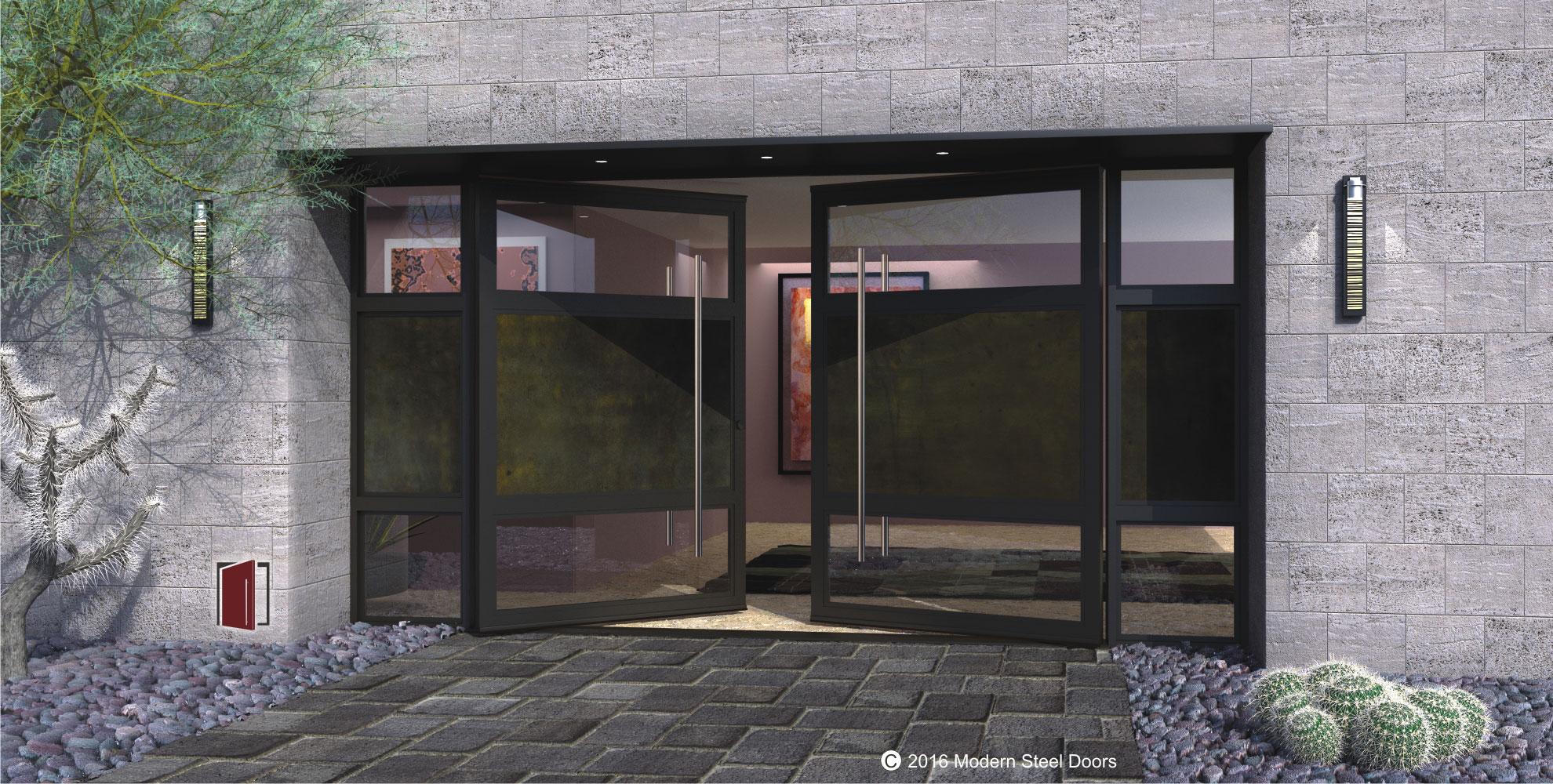 1000 #4F5E46 Modern Steel Doors wallpaper Steel Exterior Doors With Glass 45251980