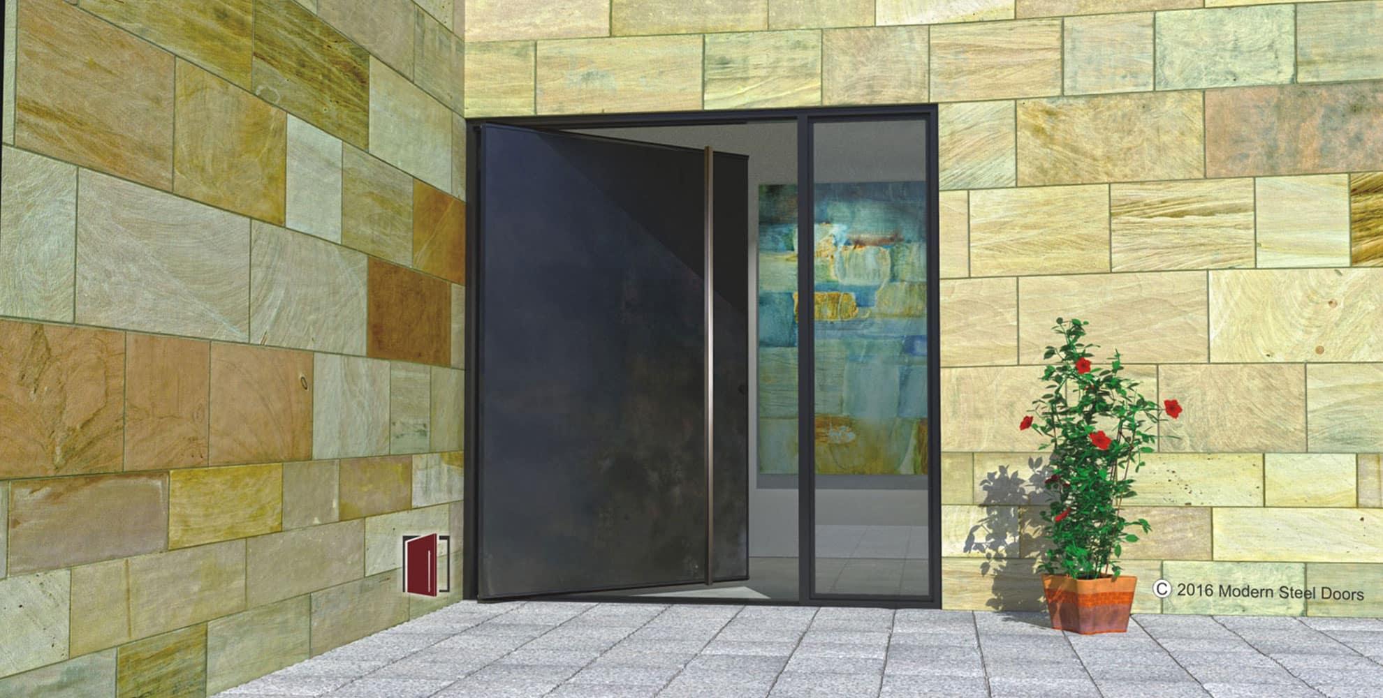 ^ Modern Steel Doors